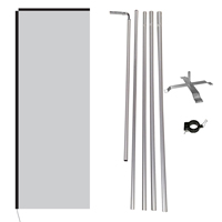Flag, Pole Kit, Clamp & Cross Base