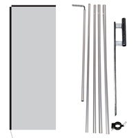 Flag, Pole Kit, Clamp & Ground Spike
