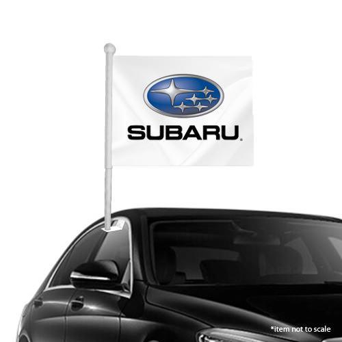 subaru window clip on flag