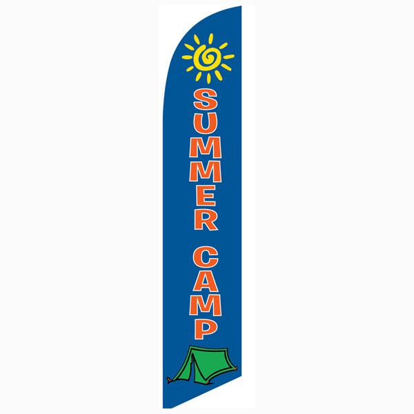 Summer Camp feather flag can be used to increase your enrollment