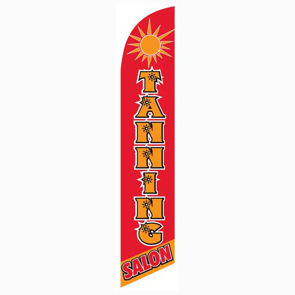 Outdoor advertising Tanning Salon feather flag.  High quality polyester