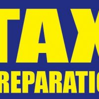 Tax Preparation Sign Banner 4X8