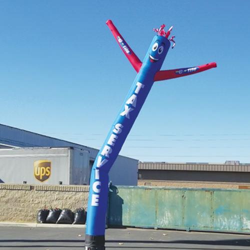 Tax Service Blue Air Inflated Dancer