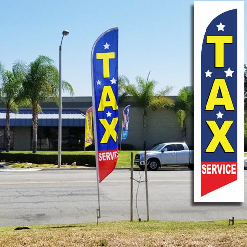 Tax Service Feather Flag with stars