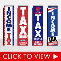 Tax Season Banner Flags