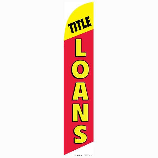 Title Loans banner flag allows your to notify your community of this service