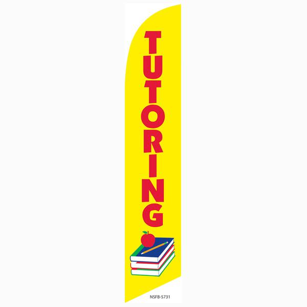 Tutoring feather flag is the perfect outdoor advertising banner