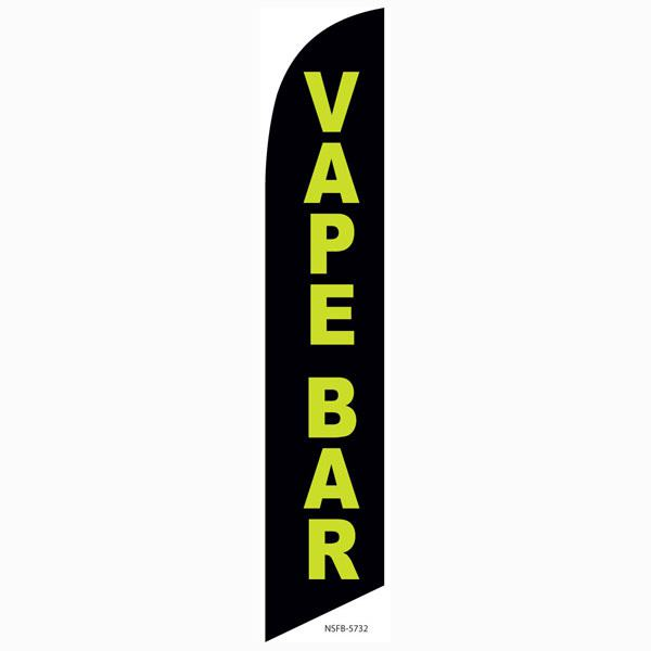 Advertise your shop with this polyester Vape Bar feather flag