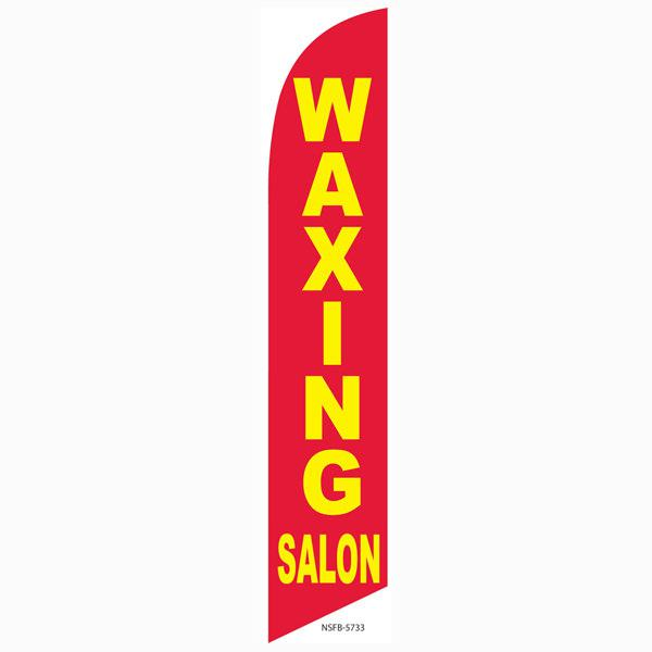 This waxing Salon feather flag will bring more clients to your door