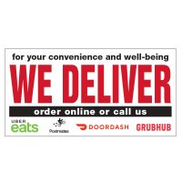 We Deliver, Order Online Vinyl Banner