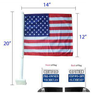 American window clip-on flag