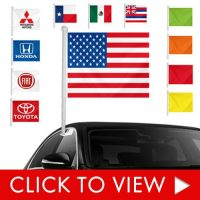 Vehicle Window Clip-on Flags