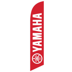 New Yamaha Red Feather Flag Banner