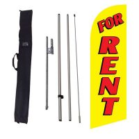 For Rent yellow Flag Kit w/ Ground Stake and Travel Bag