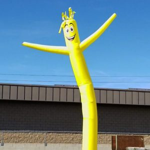 Yellow Inflatable Tube Man Air Powered Dancer